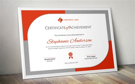 modern certificate template modern certificate template docx stationery templates