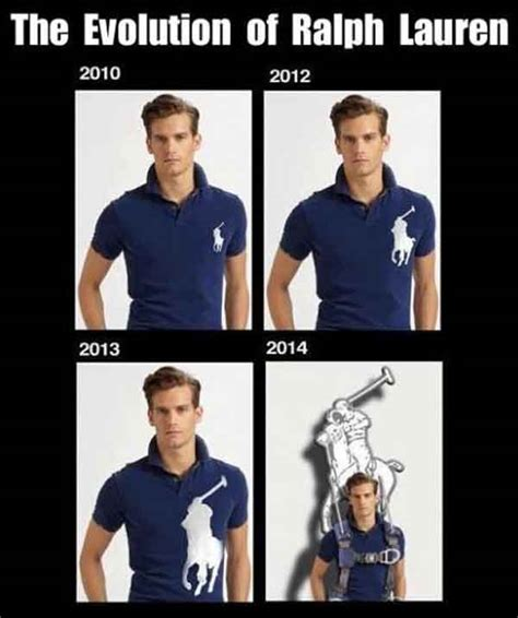 Polo Shirt Meme - ralph lauren logo getting bigger over the years talk
