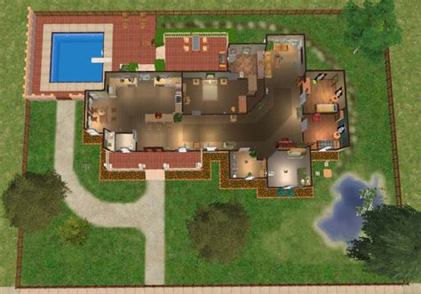 the house 1 mod the sims pippenville 1 one story three bedroom house basegame only