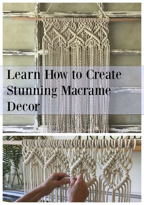 Learn How To Macrame - learn how to create stunning macrame decor the design