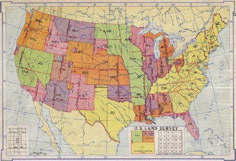 map of the united states please united states land survey