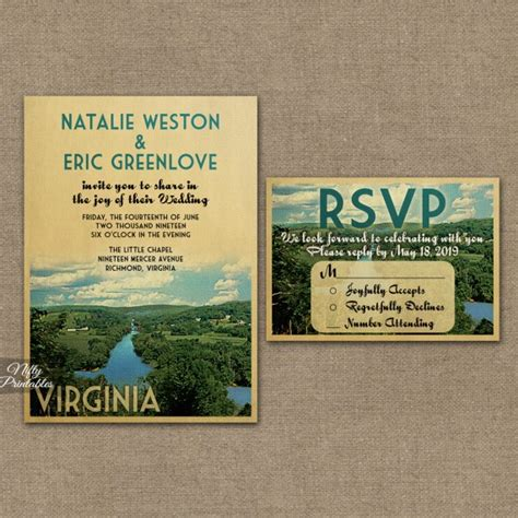 Wedding Invitations Virginia by Virginia Wedding Invitations Vtw Nifty Printables