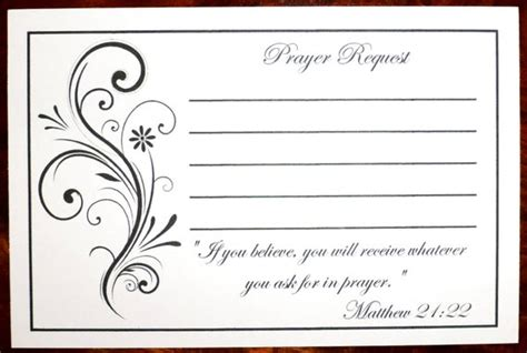 4x2 prayer card template pack of 100 prayer request cards