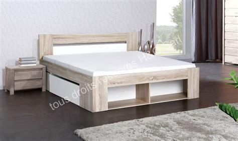 lit 160 cm avec sommier tiroirs de lit et chevets intgrs