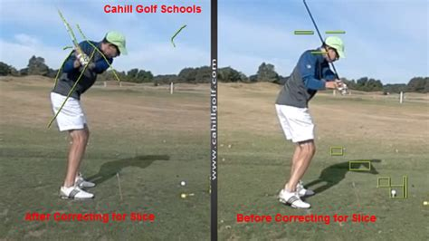 golf swing slice correction how to golf correcting slice video cahill golf instruction
