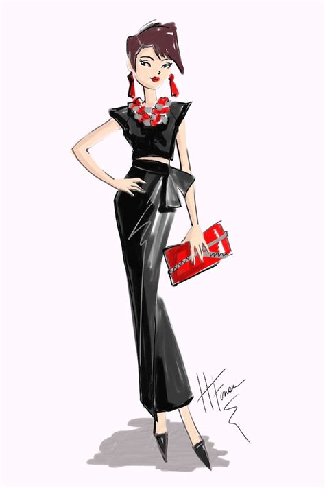 fashion illustration leather what to wear with a leather skirt