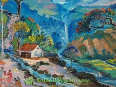 wallpaper alam peri gambar lukisan pemandangan alam cat minyak air terjun