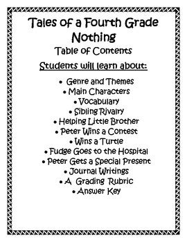 tales of a fourth grade nothing book report tales of a fourth grade nothing book report lapbook by