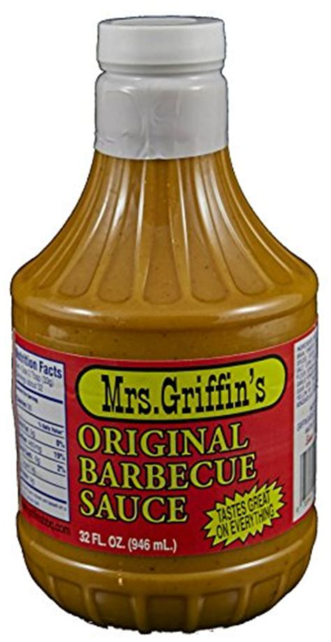 mrs griffin s regular bbq sauce 32 oz tangy mustard based bbq sauce food beverages tobacco