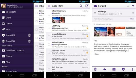 android mail app yahoo mail android droid
