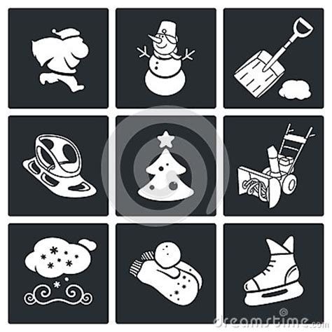 new year icon set new year s and vector icons set stock photo