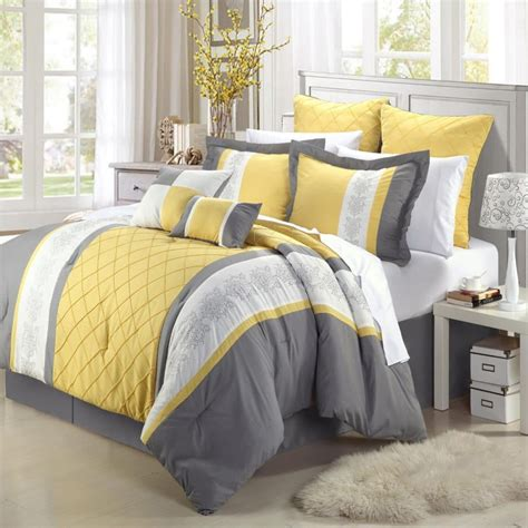 Gray And Yellow Comforters by Yellow Bedding Ease Bedding With Style