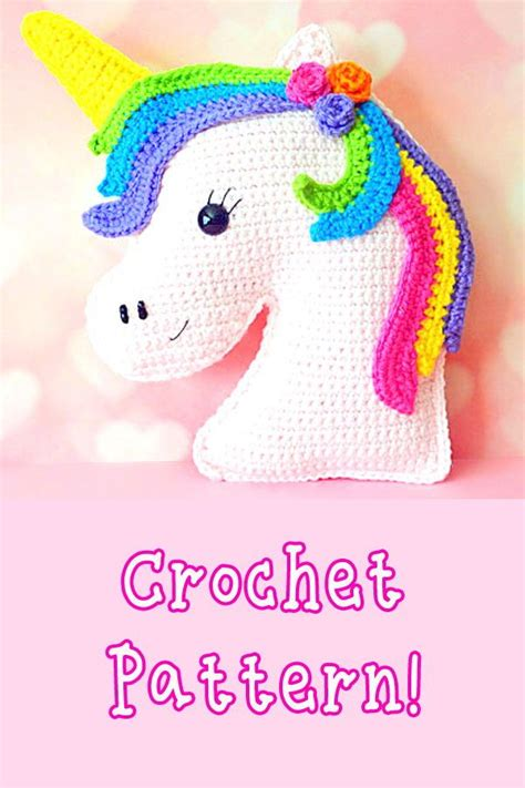 unicorn kawaii cuddler crochet pattern amigurumi unicorn
