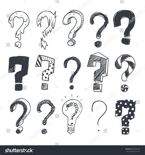 Doodle Question Marks Interrogation Stock