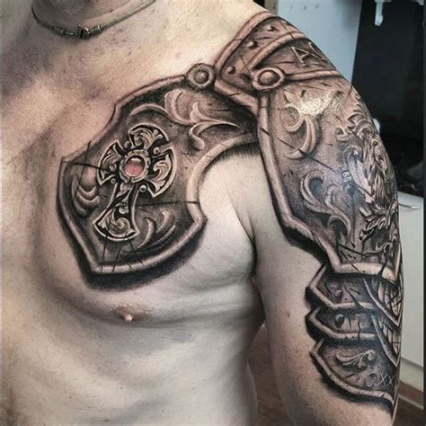 shoulder armor tattoo designs 25 best ideas about shoulder armor on