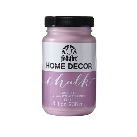 home depot chalk paint folkart home decor 8 oz lilac ultra matte chalk finish