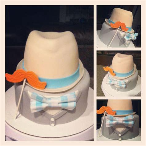 fedora hat cardigan mustache cake  ive  gold birthday cake boys  birthday
