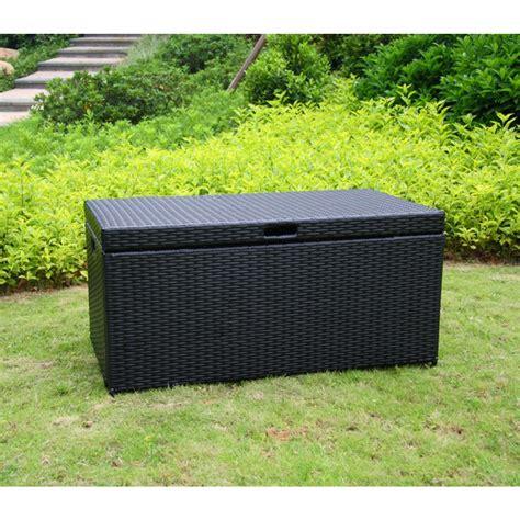 outdoor resin wicker storage outdoor black resin wicker storage deck box