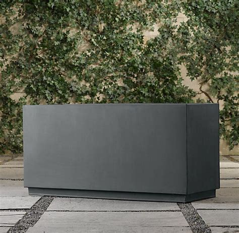 Metal Planters by Cube Sheet Metal Trough Planter Outdoor