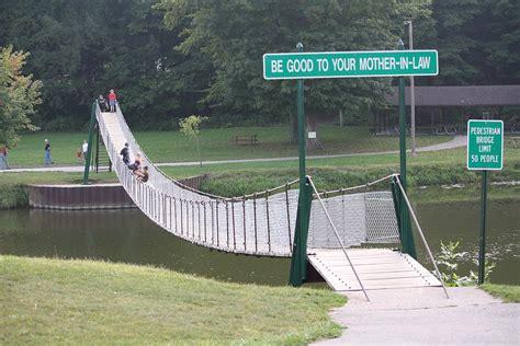 swinging bridge plans croswell swinging bridge by charles whitman
