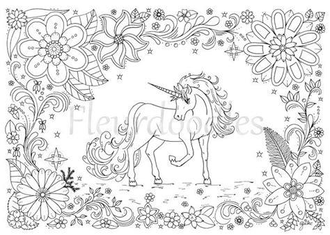 coloring page unicorn horse instant  unique