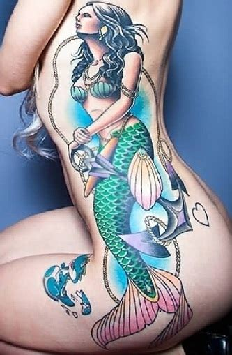 old school mermaid tattoo designs top 20 authentic school designs styles at