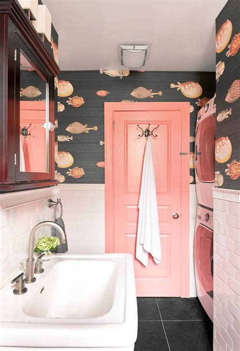 bathroom wallpaper fish how to combine wallpaper and tiles in the bathroom tile