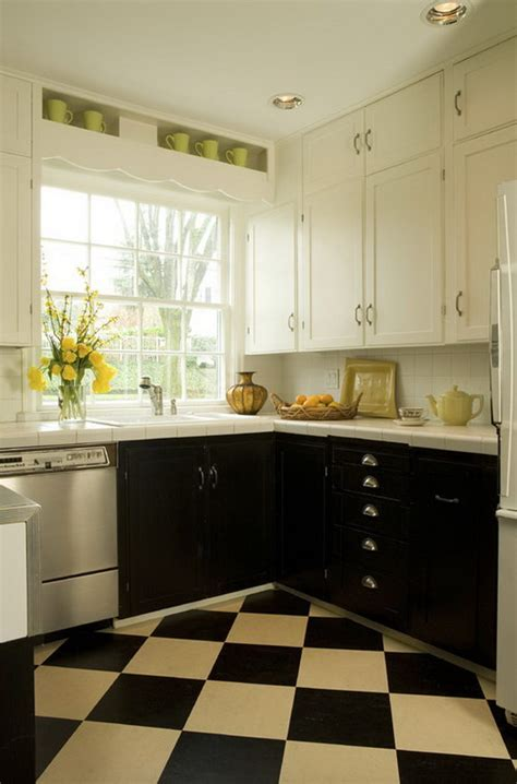 Stylish Two Tone Kitchen Cabinets For Your Inspiration Black And White Kitchen Cabinets