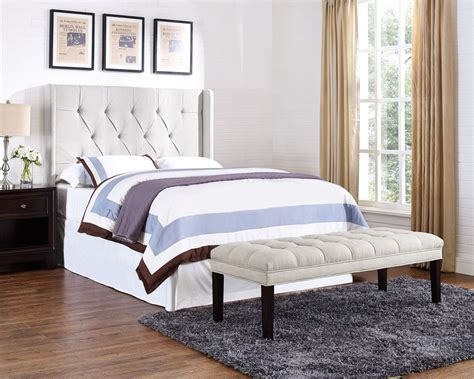 and tufted panel wings headboard ds 8634 250