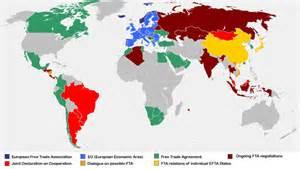 us free trade agreements map file efta freetrade map jpg wikimedia commons