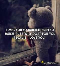 I Love You So Much It Hurts Quotes by Miss You So Much It Hurt So Much But I Will Do