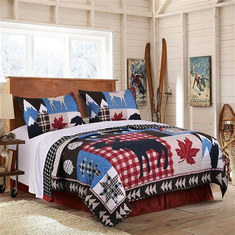 Bear Lodge And Leaves Bedding Sale Ease Bedding With Style Moose Bedding Set