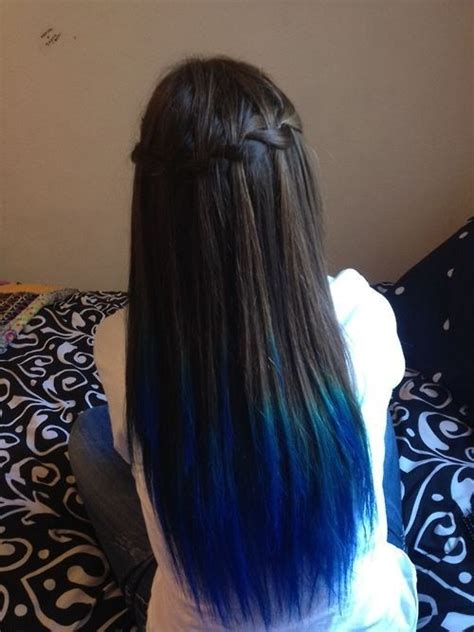 black hair with colored tips blue ombre hair dye kit seafoam hair chalk set of 6