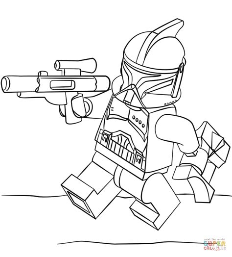 lego coloring book lego clone trooper coloring lineart wars