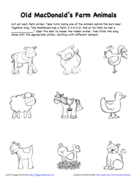 Peek A Boo Farm Animals Activity Free Printable Buggy Buddy The Coloring Pages