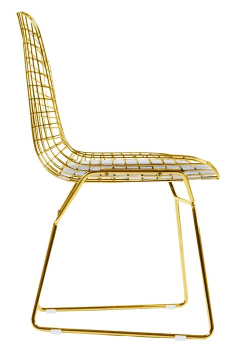 stuhl gold bertoia side chair in gold
