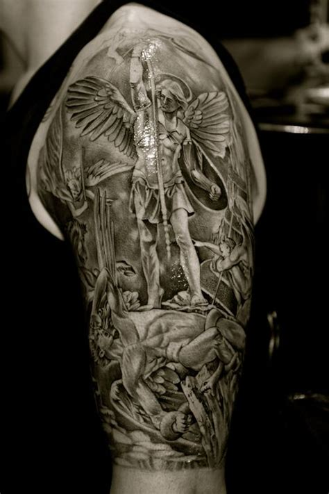 25 beautiful saint michael tattoo ideas on pinterest