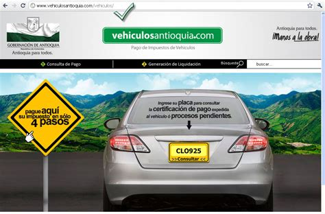 pagos de impuestos vehicular antioquia www vehiculosantioquia com vehiculosantioquia com