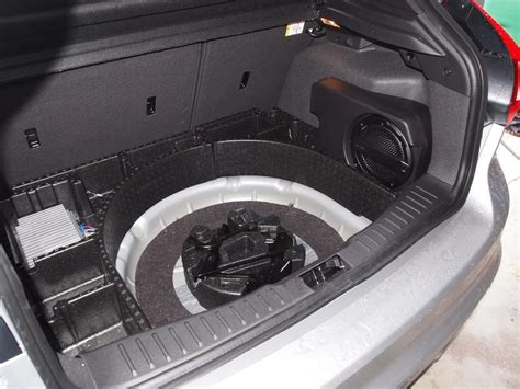 where to put the st ford focus subwoofer install