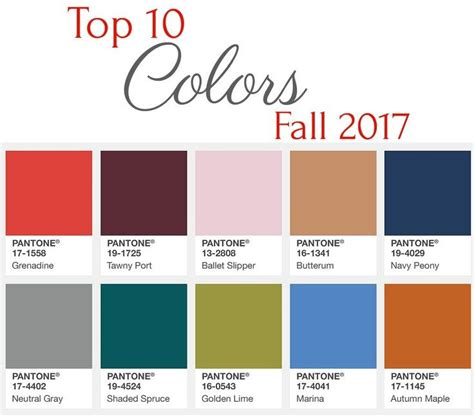 fall 2017 colors pantone incredible colors available to you this fall part 1