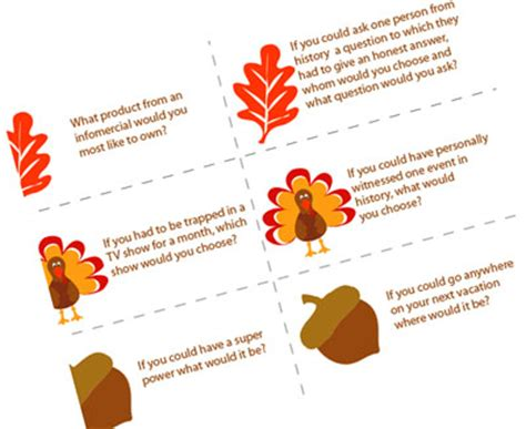 conversation card templates thanksgiving dinner conversation starters skip to my lou