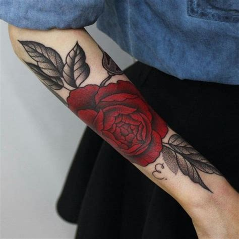 dark red rose tattoos 25 best ideas about tattoos on black