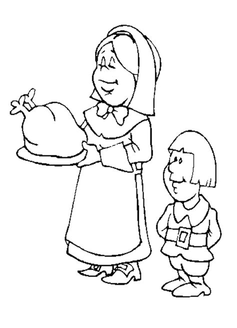 coloring page of a pilgrim girl pilgrim girl coloring page coloring home