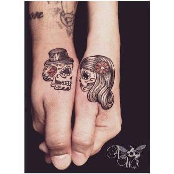 imagenes de tatuajes de calaveras para parejas mexicanas