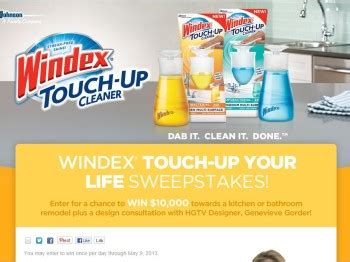 enter the mix up your kitchen sweepstakes windex touch up your life sweepstakes sweepstakes fanatics