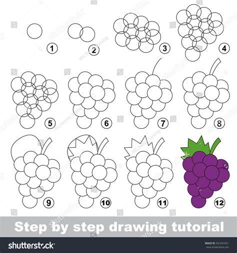 tutorial vector simple drawing tutorial children easy educational kid stock