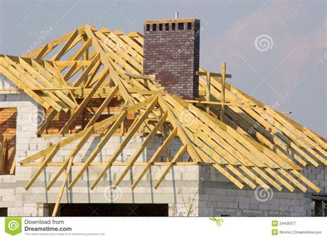 roofing and construction roof construction royalty free stock photography image