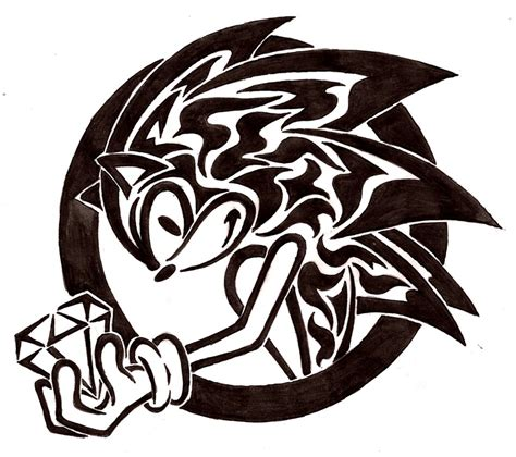 gambar tattoo tribal sonic tribal gift by flamerxmagofire on deviantart