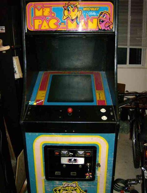 ms pacman arcade cabinet ms pac upright arcade machine restoration