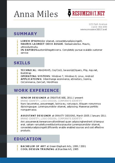 How Should Resume Be by How A Resume Should Look Like Annecarolynbird